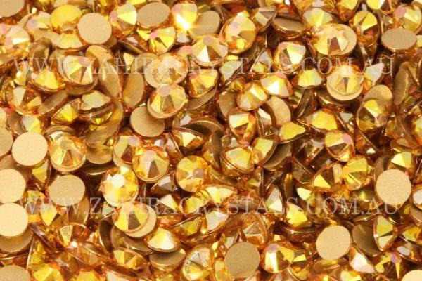 Gold Nugget Zahira Rhinestones