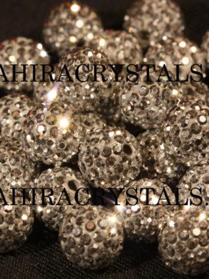 Rhinestones Silver Disco Balls