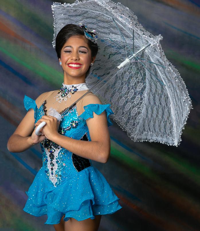 Zahira brings colour and sparkle to Calisthenics!